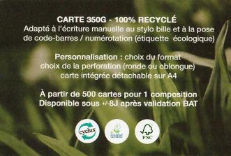 L'utilisation Ecologique des badges / cartes et de leurs accessoires